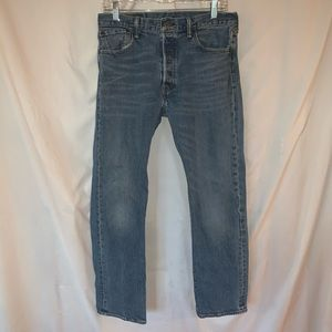 Levis 501 button fly mens jeans  32 x 30